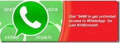 Airtel: Get Unlimited Access To Whatsapp For Only #100 monthly