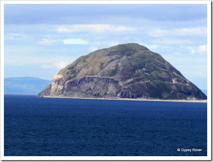 Ailsa Craig out in the Firth of Clyde.