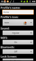 Screenshot of Profile Manager