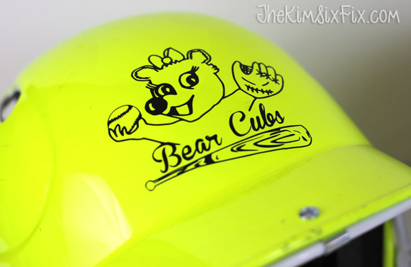 Bear cub softball helmet