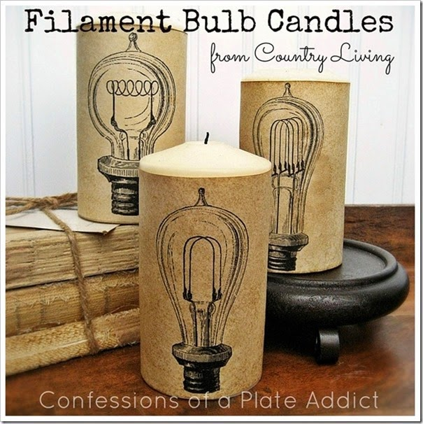 CONFESSIONS OF A PLATE ADDICT Country Living Inspired Filament Bulb Candles