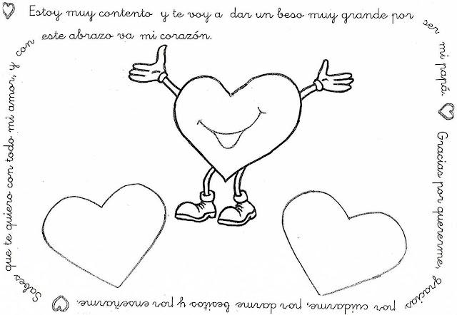 MAESTRA NEILA: Tarjetas con corazones para papa