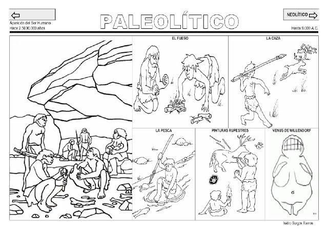 Dibujos De Prehistoria Para Ninos Para Colorear: Fichas De Los Inicios De La Historia