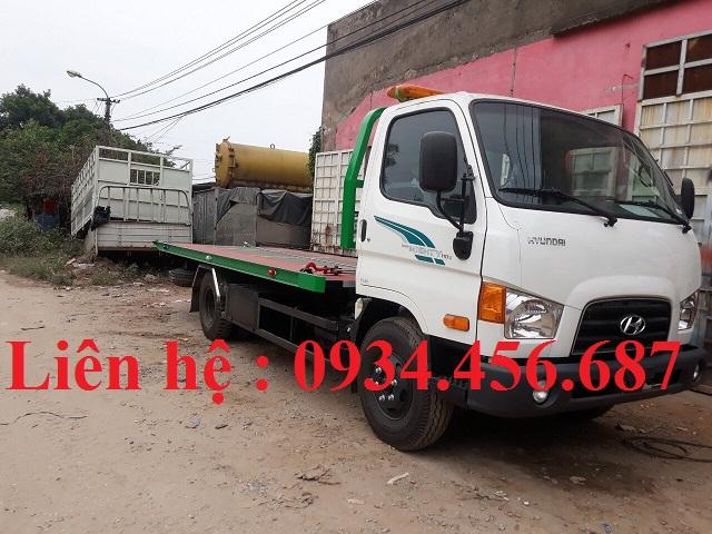 Xe cứu hộ 7 tấn Hyundai 110s sàn trượt cần kéo
