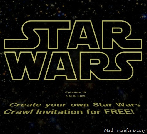 Create Your Own Free Star Wars Crawl Invitation