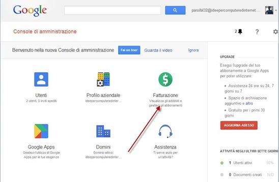 interfaccia google apps