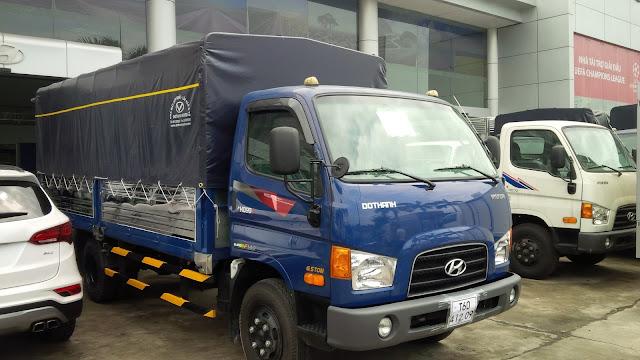 Xe tải Hyundai HD99 Đô Thành nâng tải 7 tấn thùng bạt, thùng kín -Hình 2