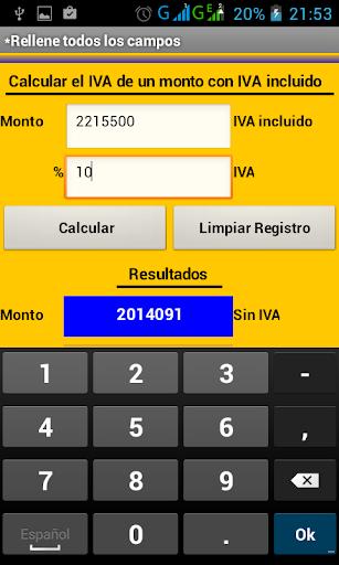 Calculadora de IVA