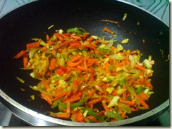 VEg mixture for noodles