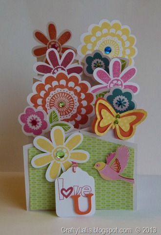 Girls Rock Cascading Card with Art Philosophy and Chantilly CTMH paper
