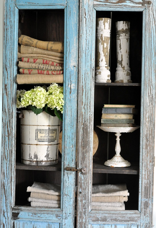 blue chippy cupboard