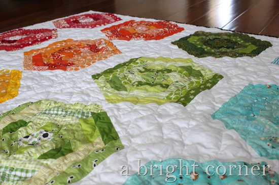 hexing around quilt