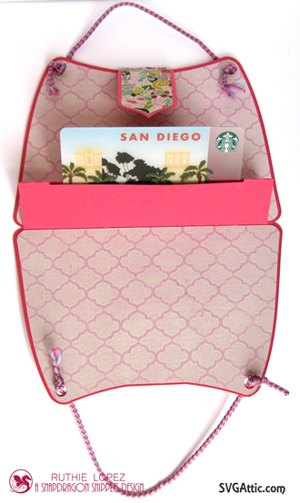 Gift Card Purse - SnapDragon Sinnepts - Ruthie Lopez DT