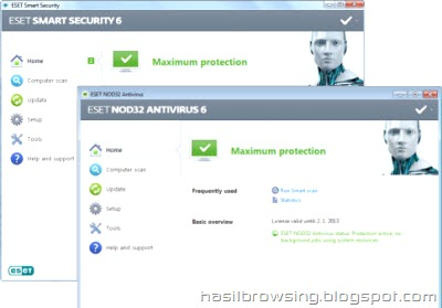 ESET Smart security 6 & ESET NOD32 Antivirus screenshot