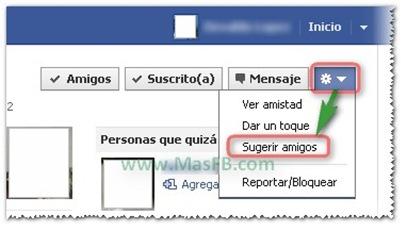 Cómo sugerir amigos en Facebook 2011