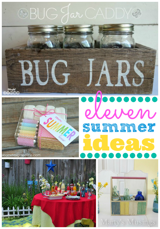 11 Summer Ideas #gingersnapcrafts #feature