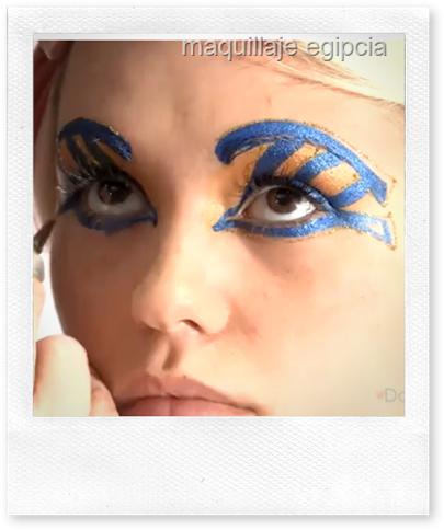 maquillaje egipcia
