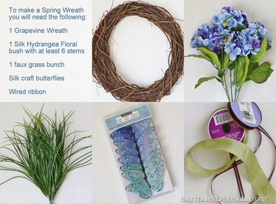 Spring Wreath items
