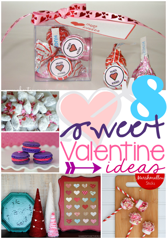8 Sweet Valentine Ideas at GingerSnapCrafts.com #linkparty #features #Valentines