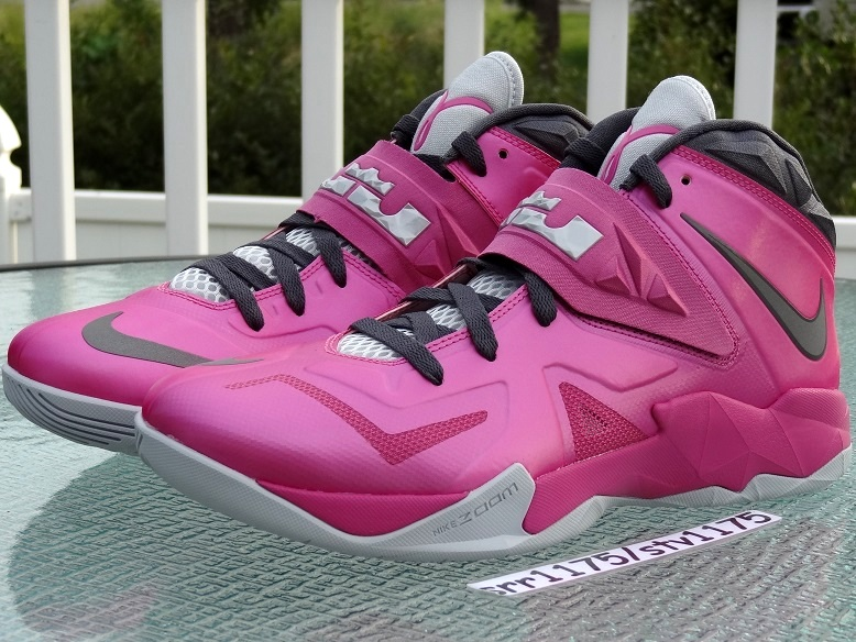the latest f8925 fcdf3 ... Nike Zoom LeBron Soldier VII 8211 Kay Yow Think Pink ...