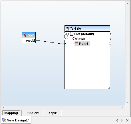 A function connected to a text file