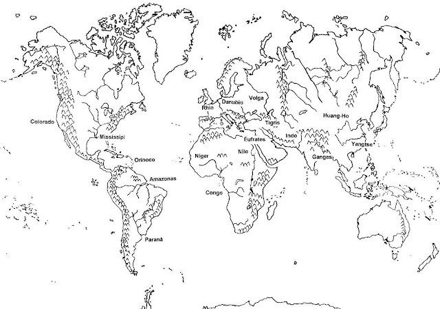 WORLD MAPS COLORING PAGES