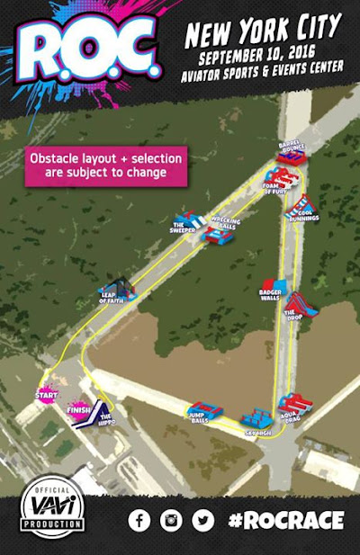 New York your official ROC Race course map is here Event is