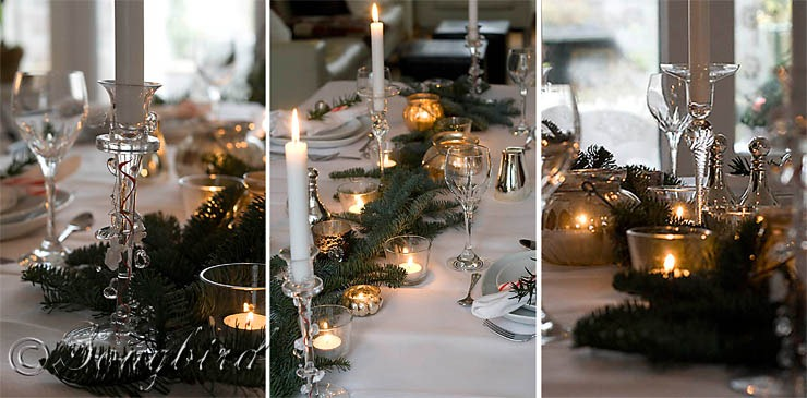 Songbird Christmas Table Setting 16