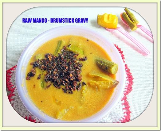 mango drumstick poricha kuzhambu