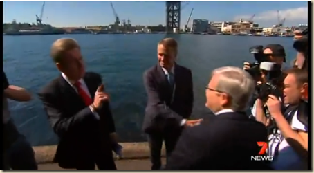 Kevin Rudd and Barry O'Farrell clash on Labor's plans for Garden Island - YouTube