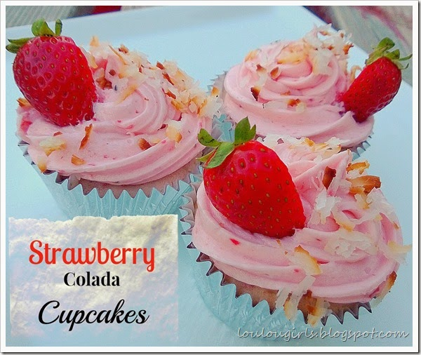 strawberry colada cupcakes