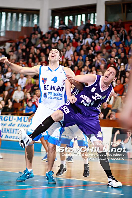 Virgil Stanescu vs Dan Paltinisan / BC Mures - BC Timisoara, 4 aprilie 2012