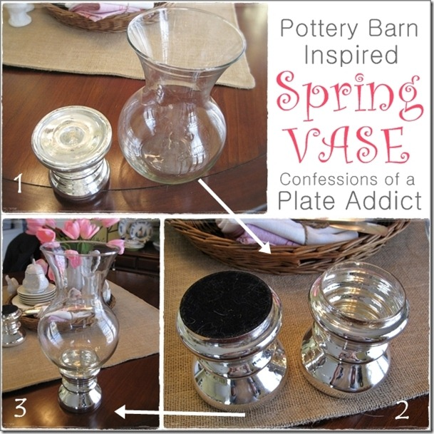 CONFESSIONS OF A PLATE ADDICT Pottery Barn Inspired Spring Vase4