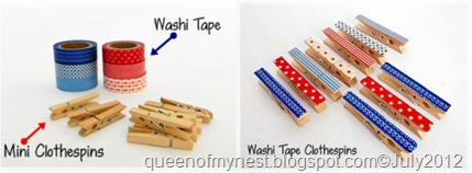 Washi Clothespins Collage