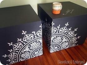 Chalkboard Cubes