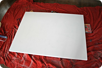 priming canvas