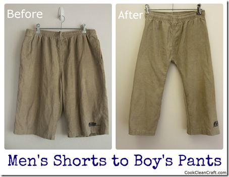 Mens Shorts to Boys Pants