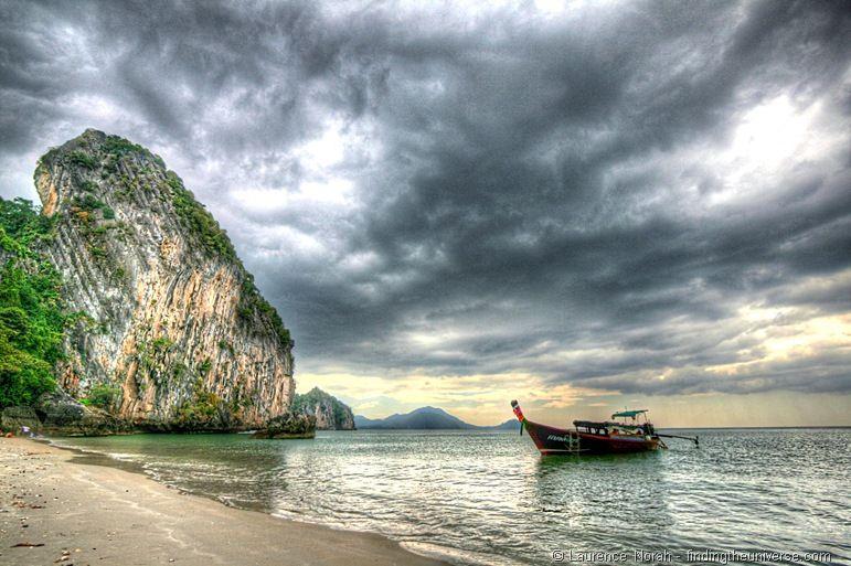 Long tail boat Thailand sky