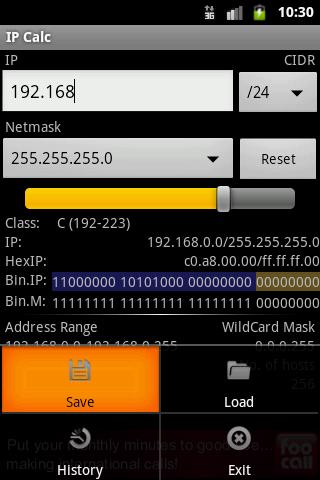 IPCalc- screenshot