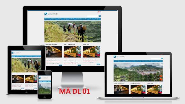 Thiết kế web Đặt vé Tàu, Đặt Tour Du lịch
