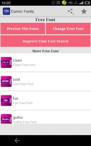 Fonts for FlipFont Comic