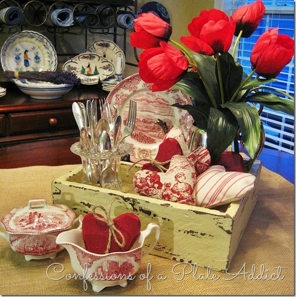 CONFESSIONS OF A PLATE ADDICT Rustic Valentine Centerpiece