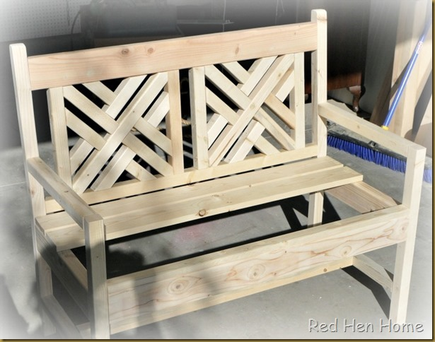 Red Hen Home bench unfinished