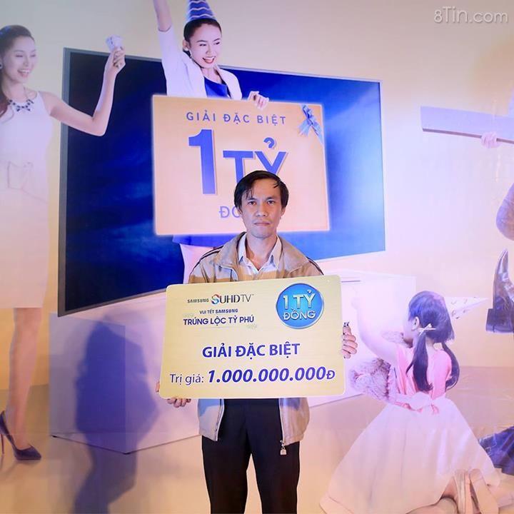 """Chủ nhân 1 tỷ đồng tiền mặt chương trình """"Vui Tết Samsung"""