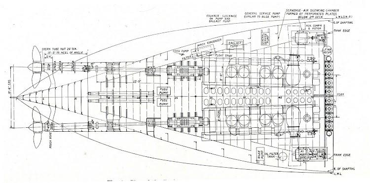 Fig.4. Plan of the Engine-room, CONDE DE CHURRUCA. De la revista THE SHIPBUILDER. Año 1921.jpg