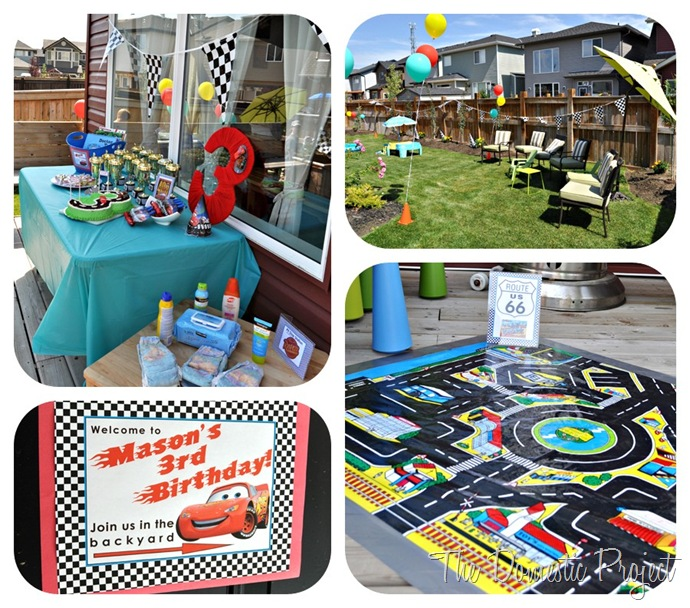 The Domestic Project: Mason's Disney Cars Birthday Party