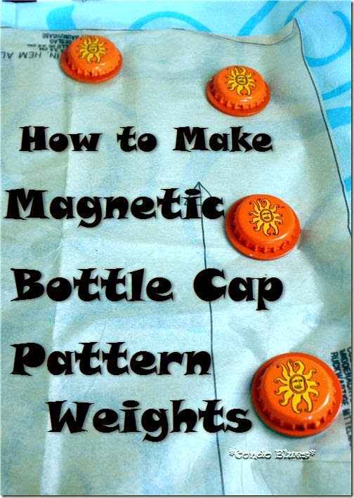 how to make magnetic bottle cap pattern weights