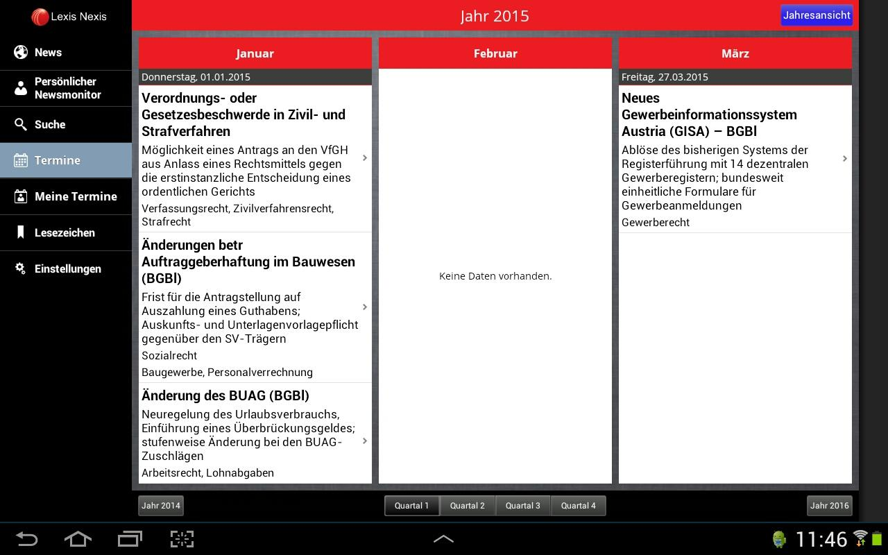 LexisNexis Newsmonitor- screenshot