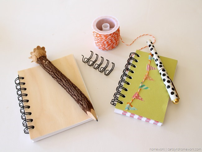 The Cinch DIY Notebooks via homework - carolynshomework (1)
