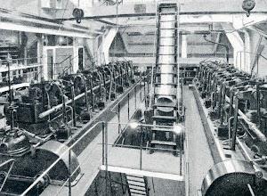 Sala de maquinas principal del CAMPOAMOR. Del libro CAMPSA. 1928-1932
